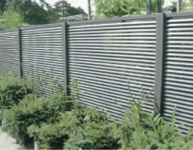 Aluminum fixed louver fence steel fence gates aluminum fence gates perforated panels - Aluminum vs steel fencing ...