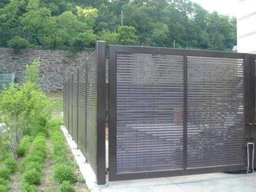Shadow 80 steel fence gates aluminum fence gates perforated panels security gates - Aluminum vs steel fencing ...