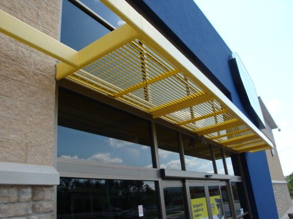 SUNSHADE 201 GALVANIZED STEEL FIXED LOUVER SUNSHADE AT BEST ...