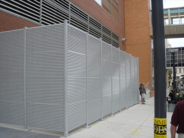 Galvanized Steel Louver Fence Steel Fence Gates