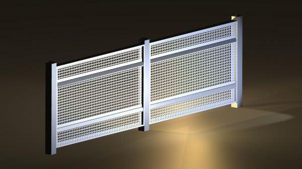 Aluminum Perforated Fence Ametco Manufacturing