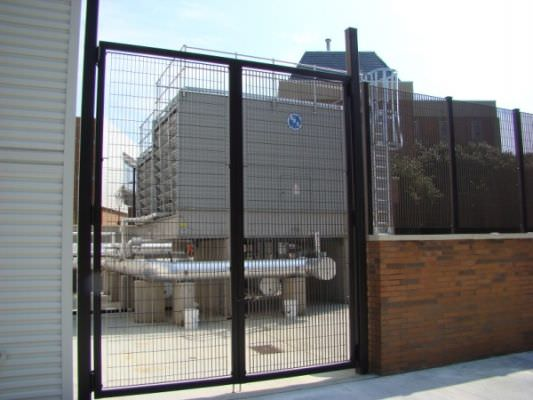 EQUIPMENT ENCLOSURE STEEL FENCE AND GATE