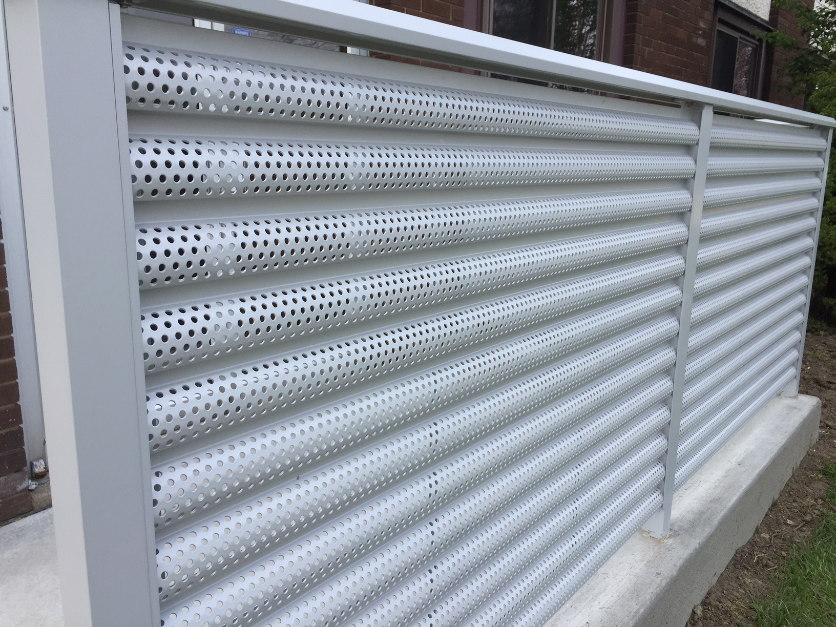 Perforated Aluminum Panels : Perforated metal railing systems ametco manufacturing