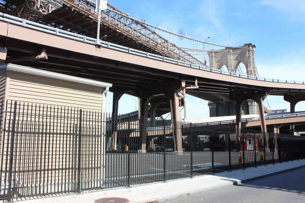 Brooklyn Bridge Complex Protected with Aluminum Picket Fence
