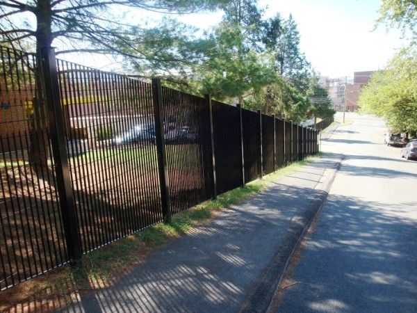Steel security fence ametco manufacturing