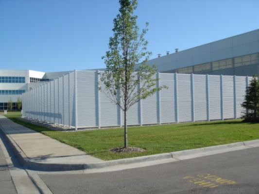 STEEL FIXED LOUVER FENCE