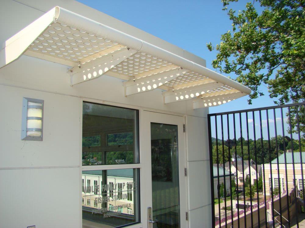 Perforated Sunshade @ Lafavette College in Pa.DSC01663 & Sunshade Canopy | Ametco Manufacturing