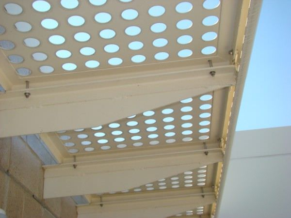 Perforated metal sun shades ametco manufacturing for Metal sun shade structures