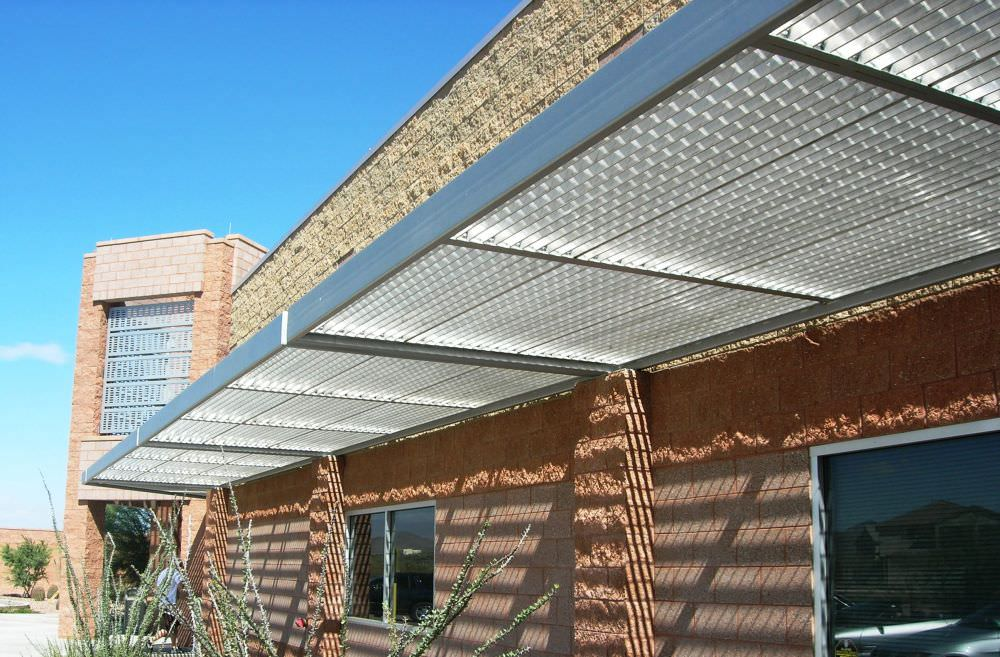 Architectural Aluminum Sunshades : Sunshade canopy ametco manufacturing