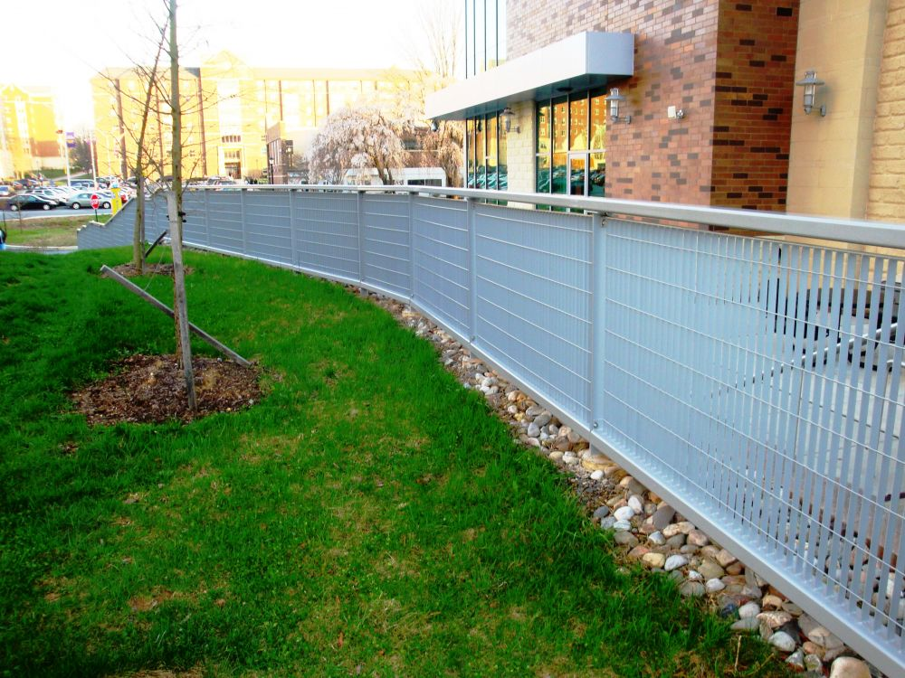 RAILINGS GROTTO DESIGN GALVANIZED AND POWDER COATED AT WEST CHESTER UNIVERSITY IN WEST CHESTER, PA  049