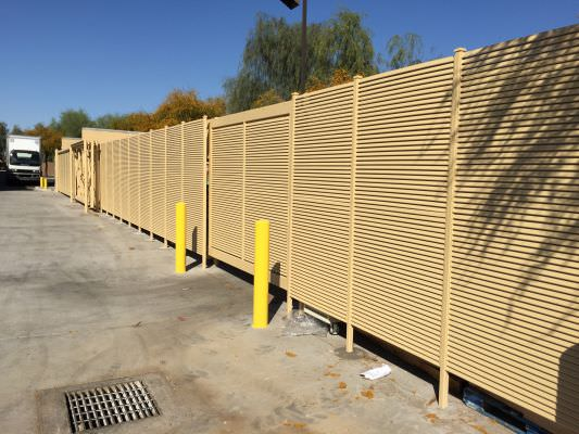 FIXED LOUVER STEEL SECURITY FENCE