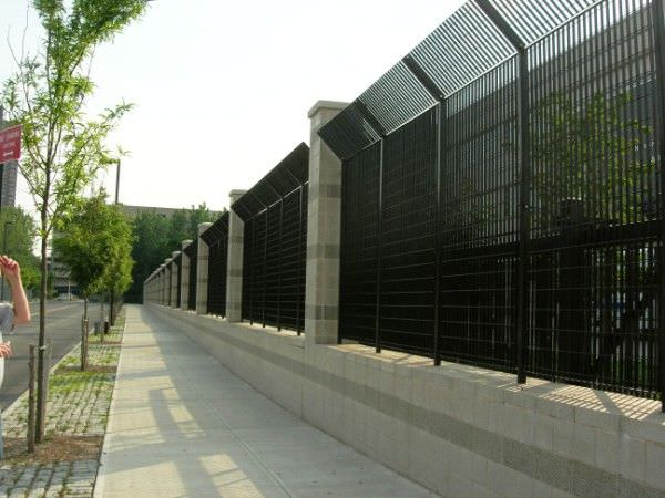 Steel security fence steel fence gates aluminum fence gates perforated panels security - Aluminum vs steel fencing ...