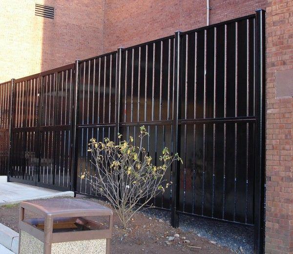 Aluminum Fixed Louver Fence Steel Fence Gates Aluminum