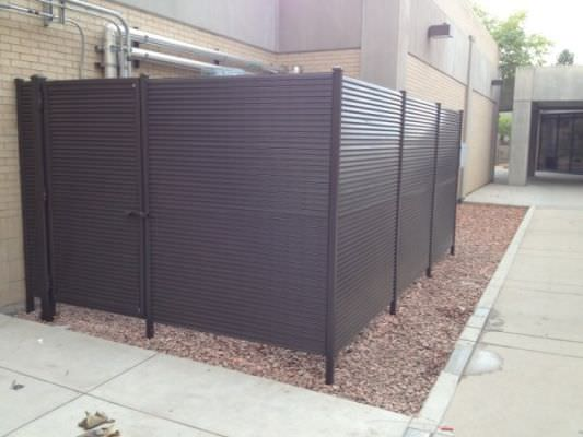 FIXED LOUVER STEEL EQUIPMENT ENCLOSURE