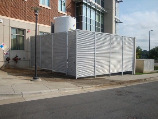 Stock size trash enclosures ametco manufacturing