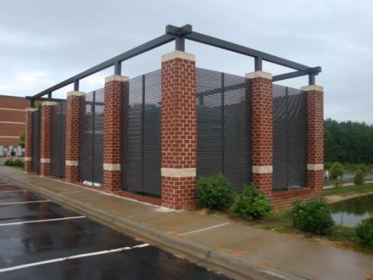 FIXED LOUVER STEEL FENCE ENCLOSURE