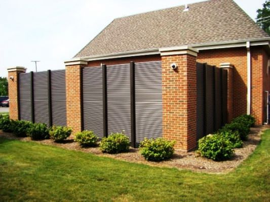 Metal privacy fence panels fencing