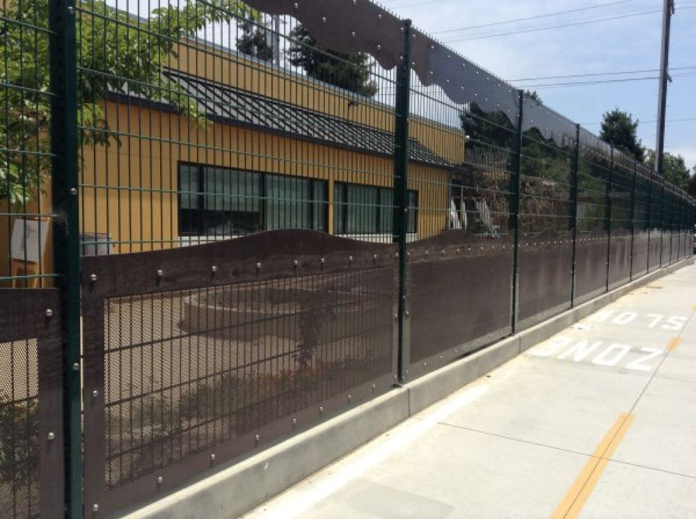 WELDED WIRE FENCING FIESTA DESIGN WITH PERFORATED PANELS