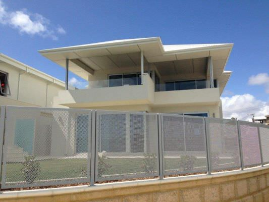 PERFORATED ALUMINUM FENCE