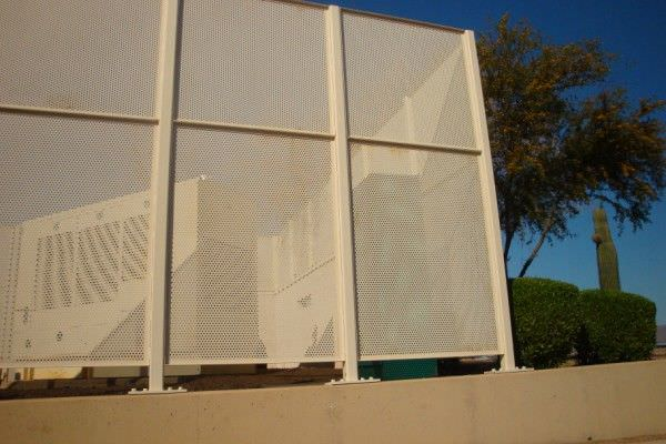 Aluminum Perforated Fence Ametco Manufacturing
