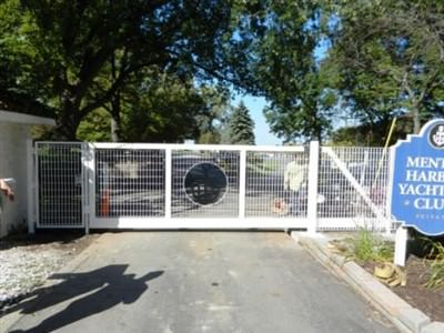 STEEL SECURITY MONORAIL CANTILEVER GATE