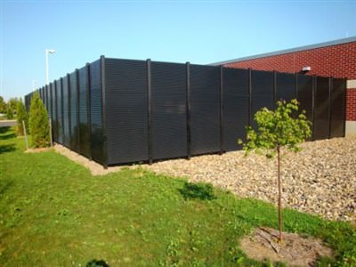 FIXED LOUVER ALUMINUM FENCE