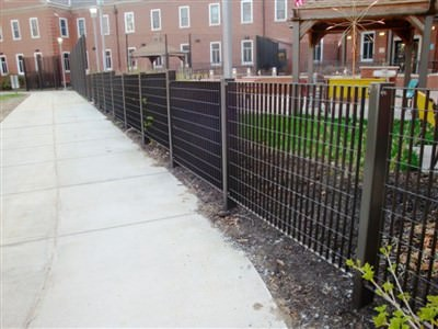 FENCING AND GATES METRO DESIGN GALVANIZED AND POWDER COATED AT THE VA HOSPITAL IN COATSVILLE, PA. 037