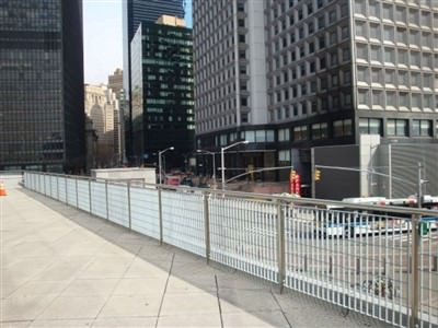 RAILINGS METRO DESIGN GALVANIZED AND POWDER COATED AT THE STATEN ISLAND FERRY IN NEW YORK  070