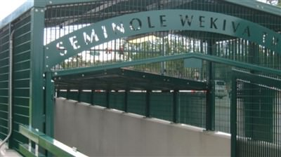 Steel Security Fence Blockade Design at Seminole Wekiva Trail in Orlando, Fl.